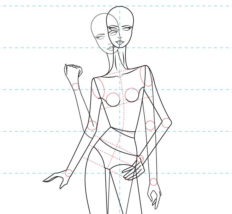 plantilla figurin femenino estilizado