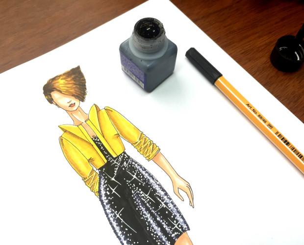 Cómo colorear un vestido de lentejuelas
