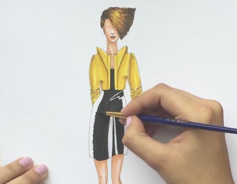 Cómo colorear un vestido de lentejuelas07