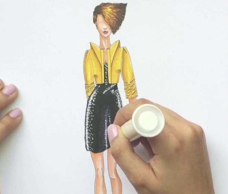 Cómo colorear un vestido de lentejuelas - Laura Páez