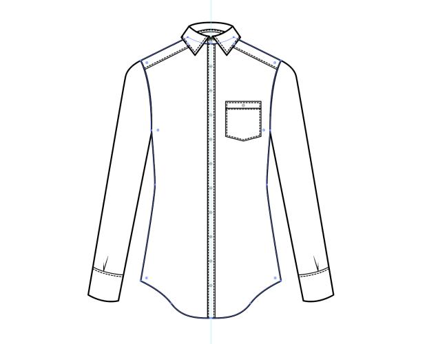 Cómo dibujar una camisa en illustrator