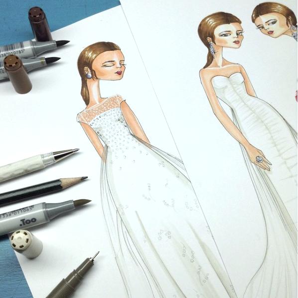 Como colorear un vestido de novia paso a paso