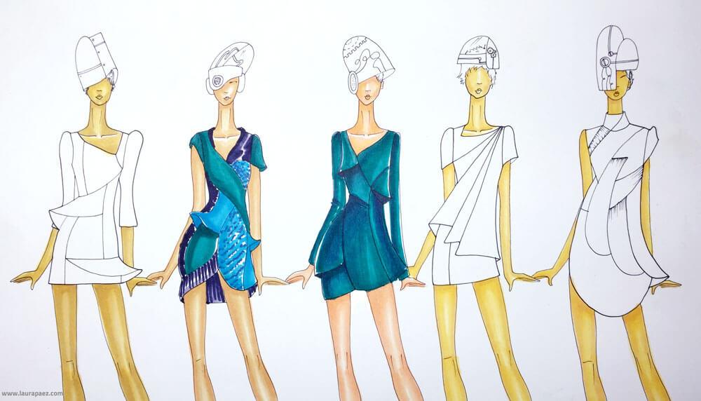 Figurines Para Disear Ropa. Top Lujo Disear Un Vestido Para Colorear ...