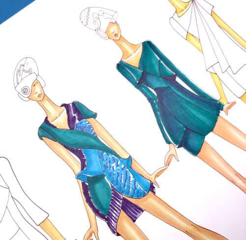 aplicar plumones en figurines de moda