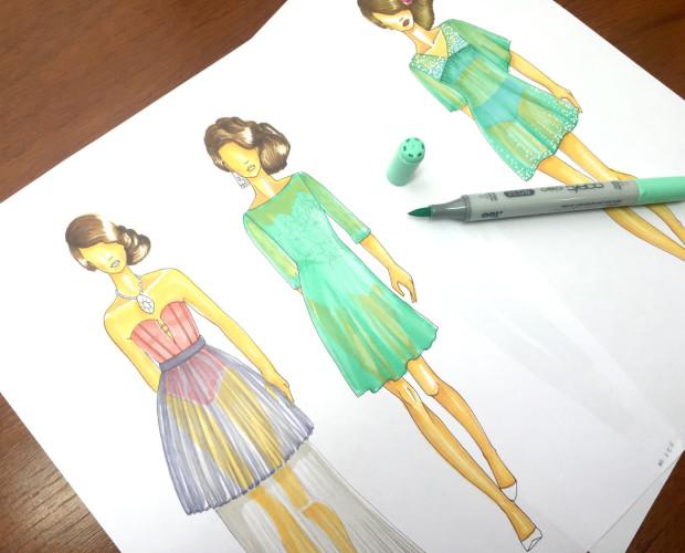 colorear transparencias en figurines