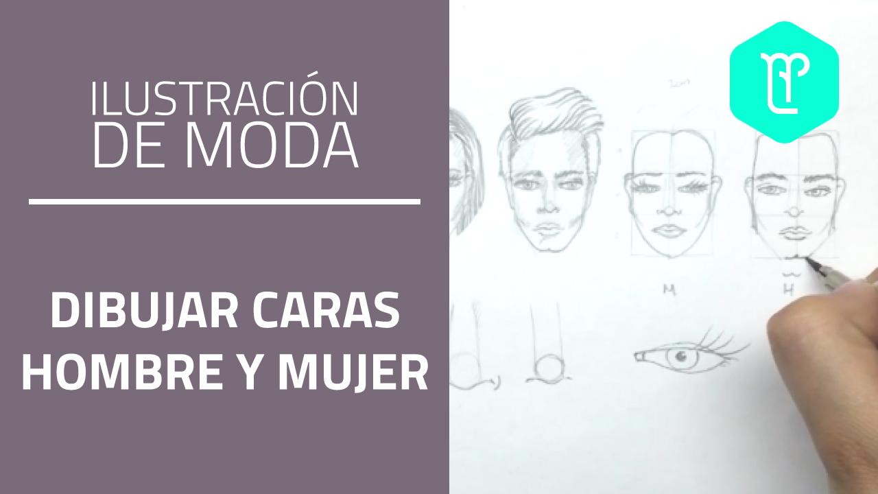 Como Dibujar Y Pintar Facil El Rostro De Una Mujer De: Aprende A Dibujar Caras De Hombre Y De Mujer