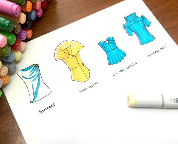 cómo aplicar color a bocetos de moda