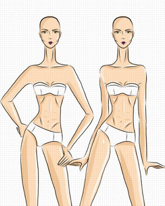 poses de figurín de moda