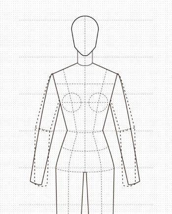 Maniquí de mujer para diseño plano