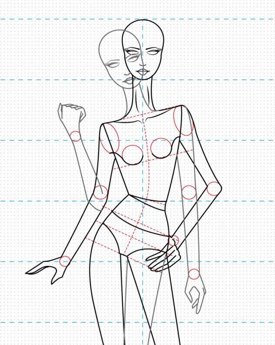 Vector de figurín estilizado