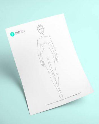 figurín de mujer para imprimir