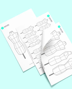 Maniquí femenino para imprimir