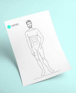 Plantilla de figurín masculino para imprimir