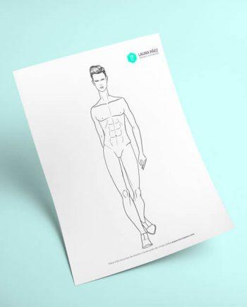 Figurín masculino caminando