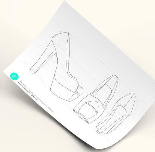 diseñar tacones de plataforma