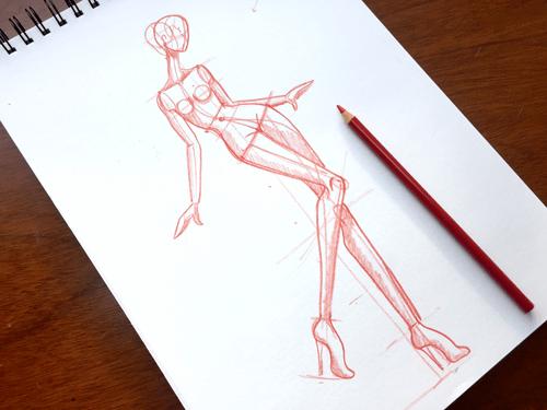 Cómo dibujar un figurín de moda paso a paso