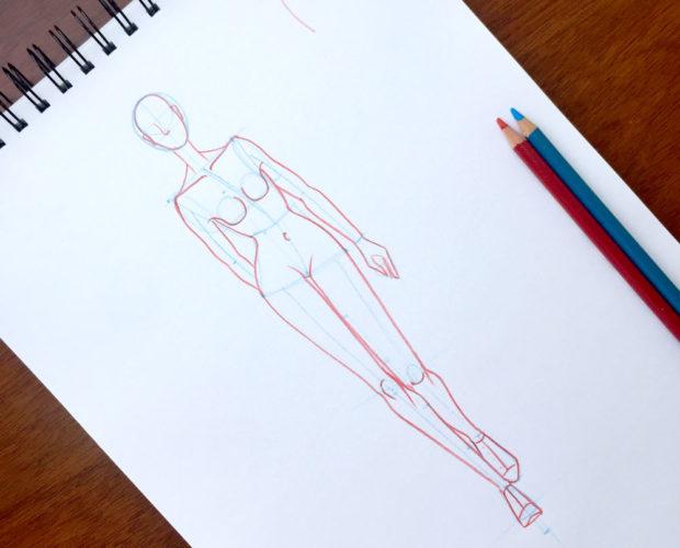 cómo-dibujar-un-figurín-caminando