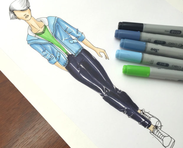 Colorear figurin con plumones