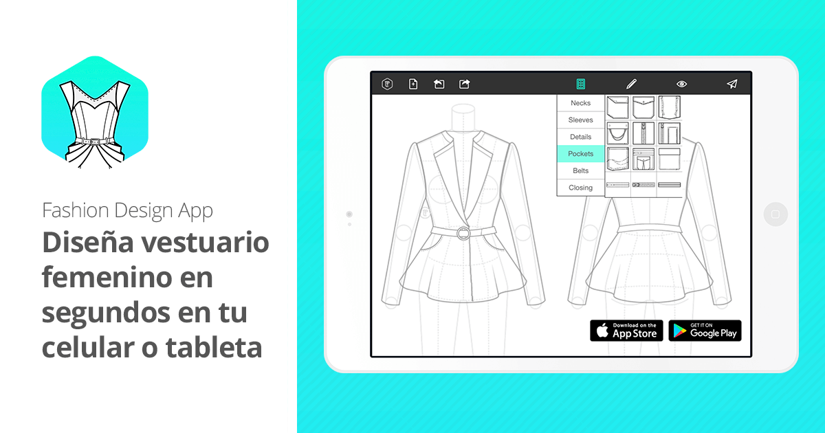 App para dise o de moda fashion design app flat sketch for App para planos