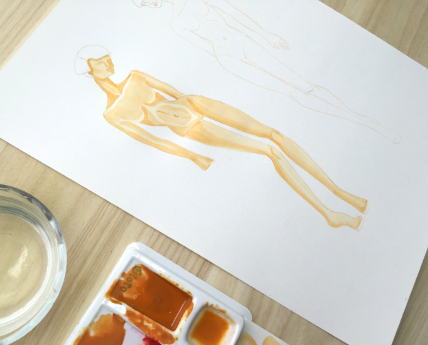 Como pintar figurines con acuarela