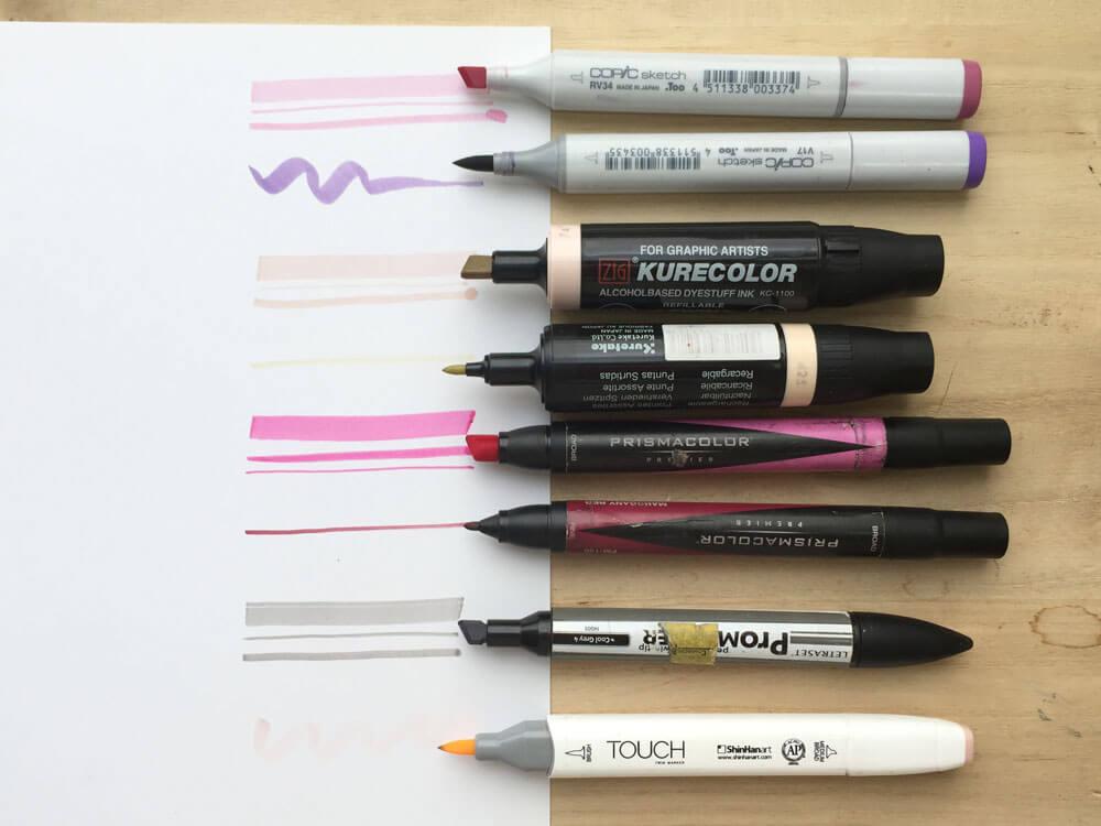 marcadores para pintar figurines de moda