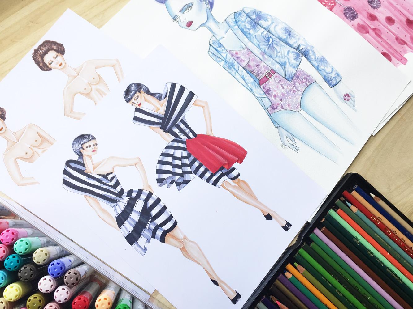 Papeles Para Dibujar Figurines De Moda Cuáles Usar Según La Técnica