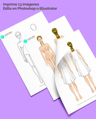 Female Fashion Figure Template