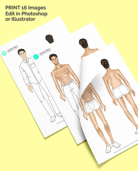 Male Fashion Figure For Printing And Photoshop Or Illustrator