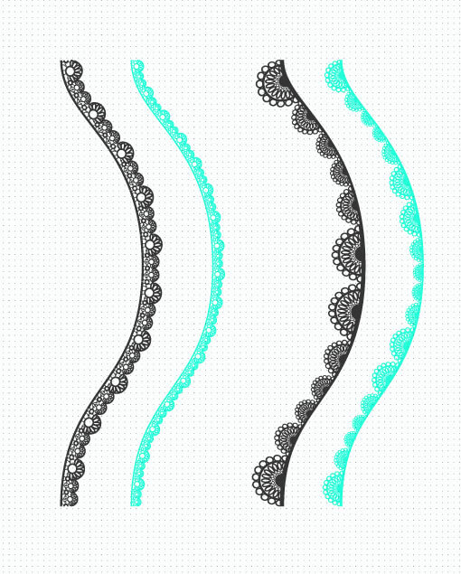 Pinceles de encajes en illustrator
