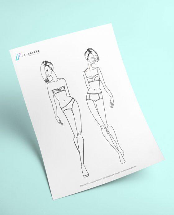 figurines de moda femeninos