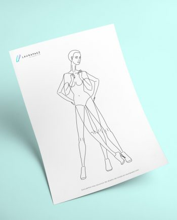 Multipose Fashion Template For Printing + Ai  Fashion Designer Templates