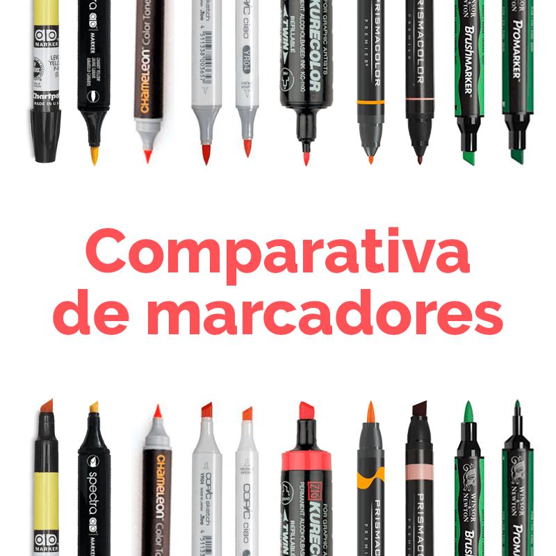 Marcadores para colorear figurines: comparativa de diferentes marcas