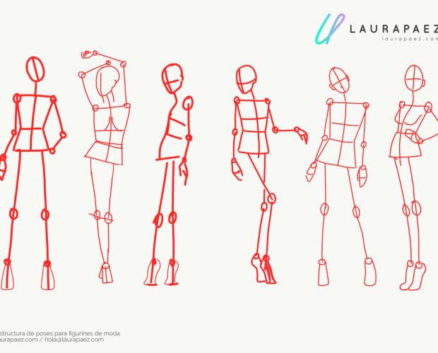 TIP: Cómo entender y dibujar poses de figurines de moda