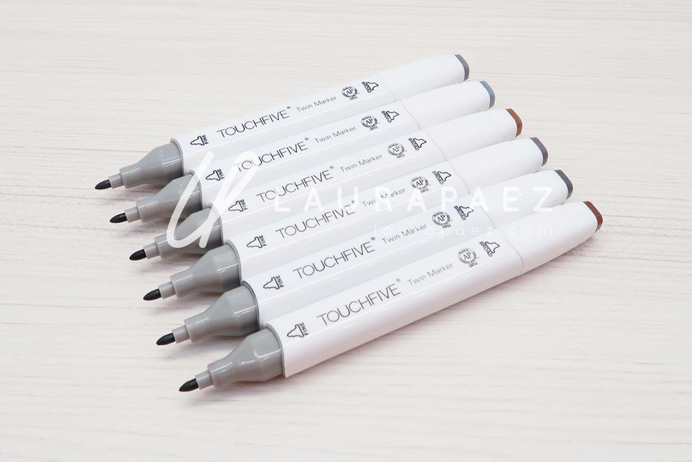 marcadores para ilustrar Touch five PICASSO
