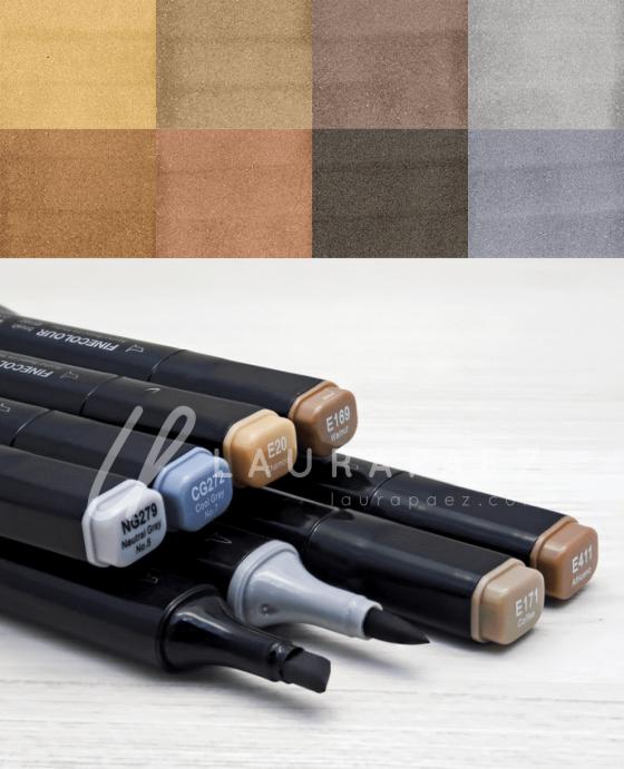 karl marcadores para cabellos oscuros
