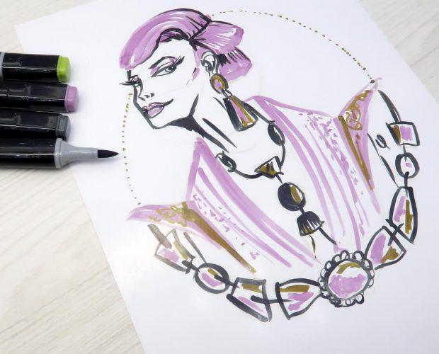 Dibujo-con-marcadores-punta-pincel