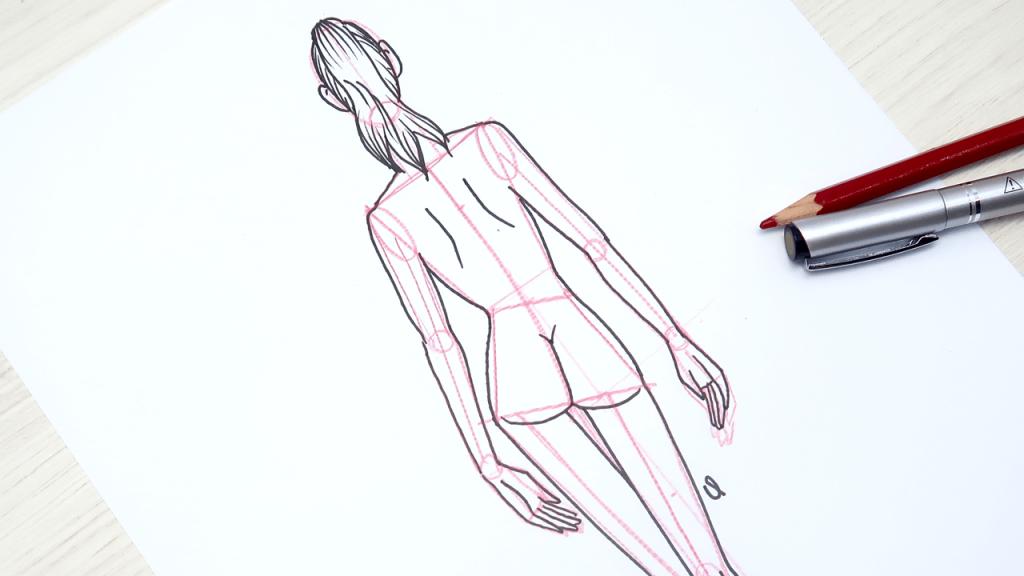 dibujar un figurín de espalda