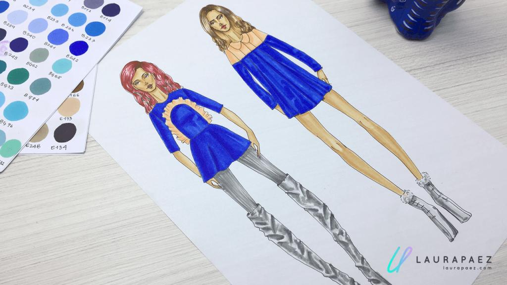 tips para colorear un figurín con marcadores