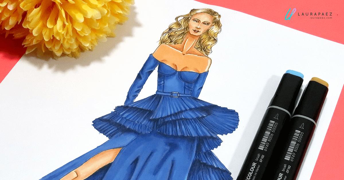 cómo colorear vestidos