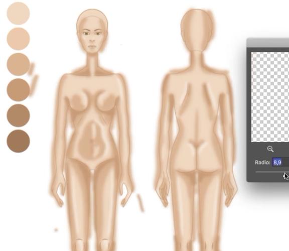 Colorear la piel de un figurín en Photoshop