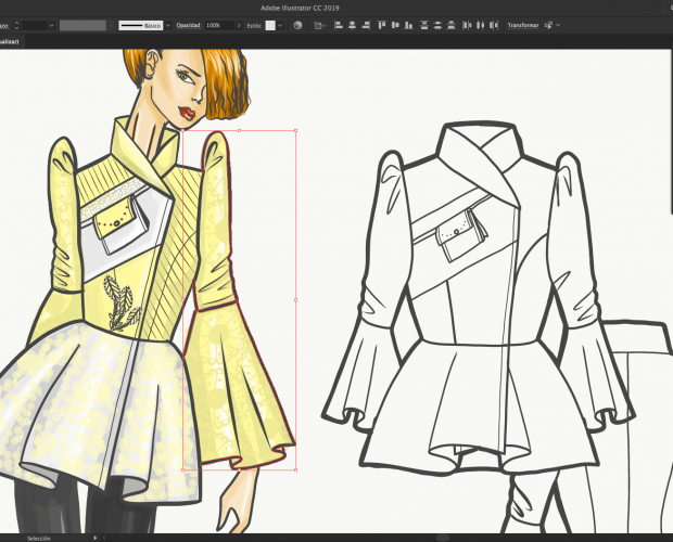 ilustración de moda digital - laura paez