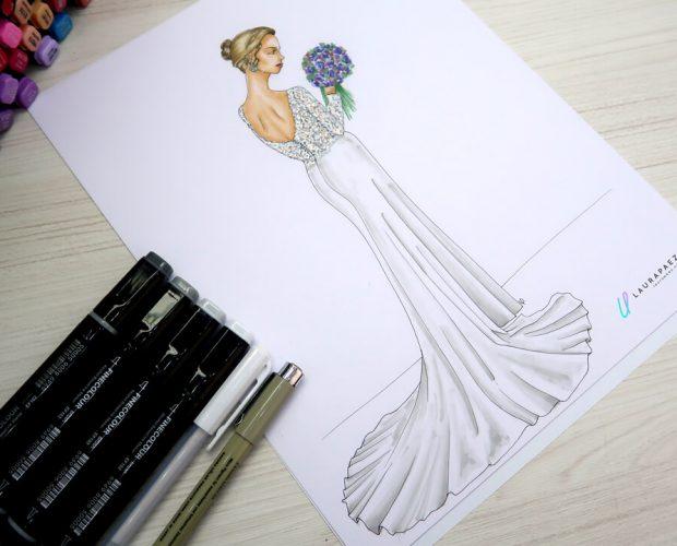 colorear un vestido de novia