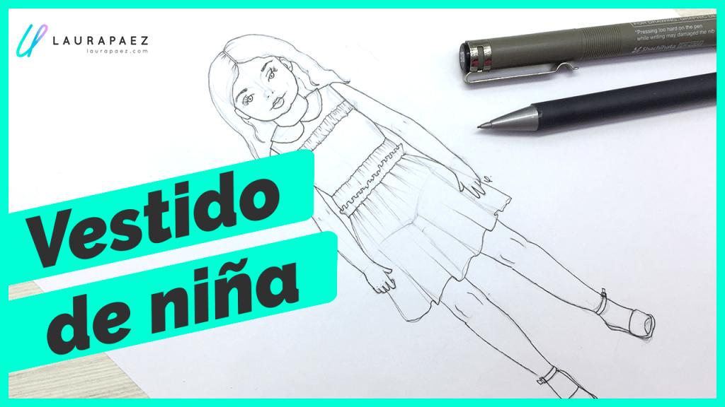 dibujar vestido de niña