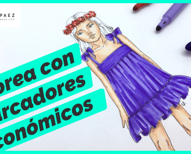 colorear figurines con marcadores económicos