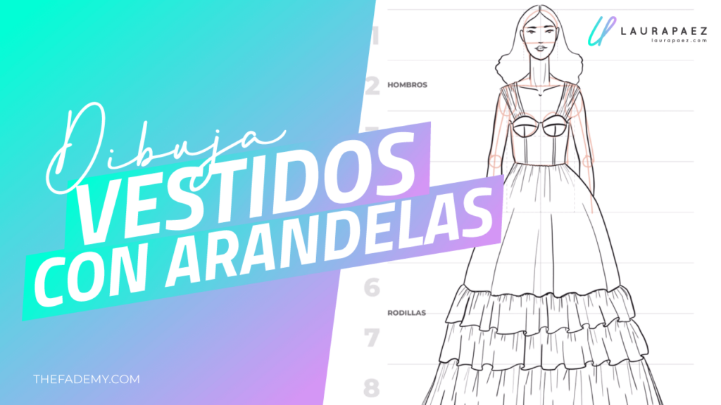 dibujar vestidos con arandelas