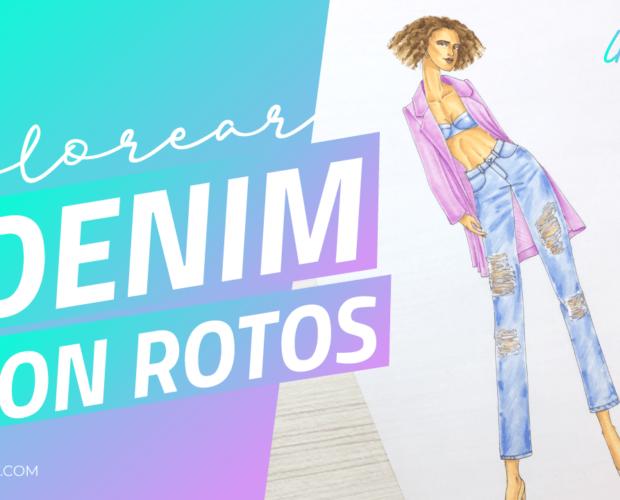 Cómo pintar el efecto de jean con rotos en figurines